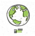 Earth planet go green concept vector