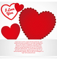 Background of hearts with different textures vector
