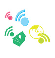 Networking icon vector