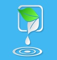 Water drop and leaves vector