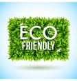 Eco friendly label made of leaves vector