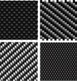 Carbon pattern set vector