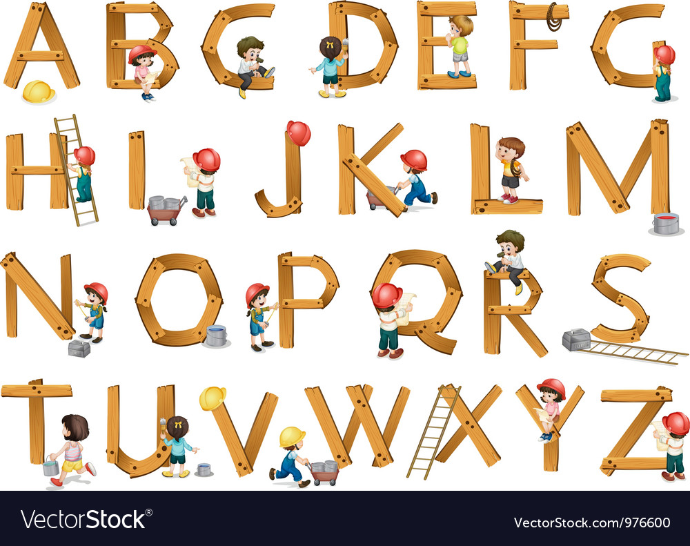 Alphabets vector | Price: 3 Credit (USD $3)