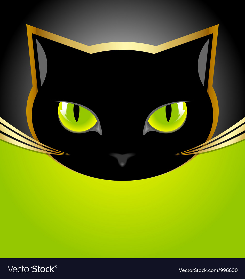 Black cat head vector | Price: 1 Credit (USD $1)