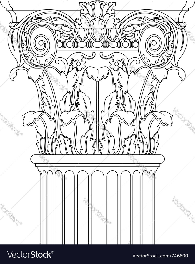 Classic column vector | Price: 1 Credit (USD $1)