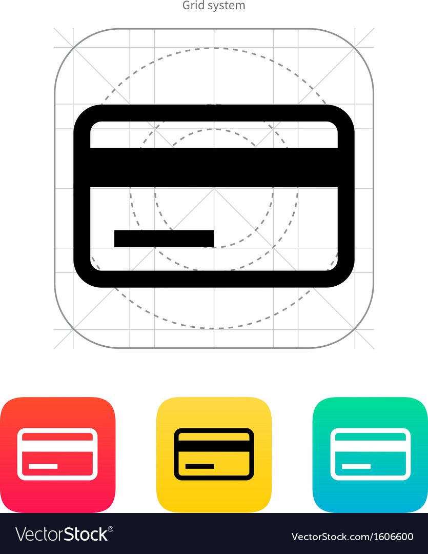 Credit card magnetic tape icon vector | Price: 1 Credit (USD $1)