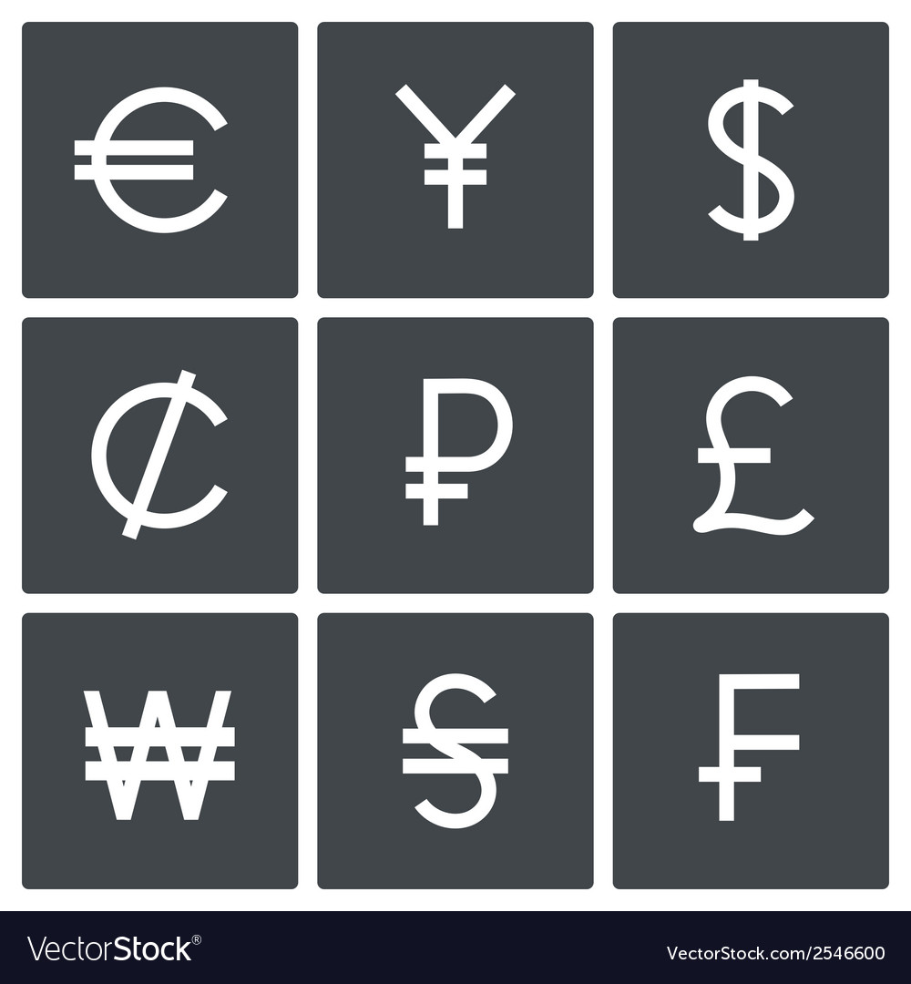 Currency icon set vector | Price: 1 Credit (USD $1)