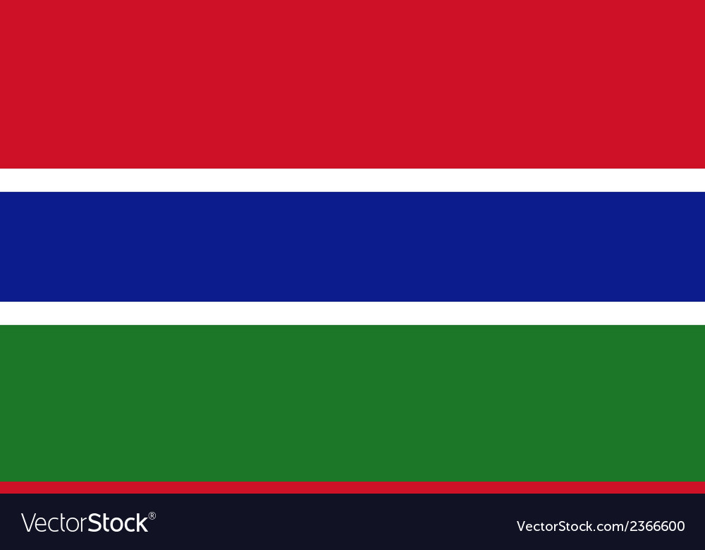 Flag of the gambia vector | Price: 1 Credit (USD $1)