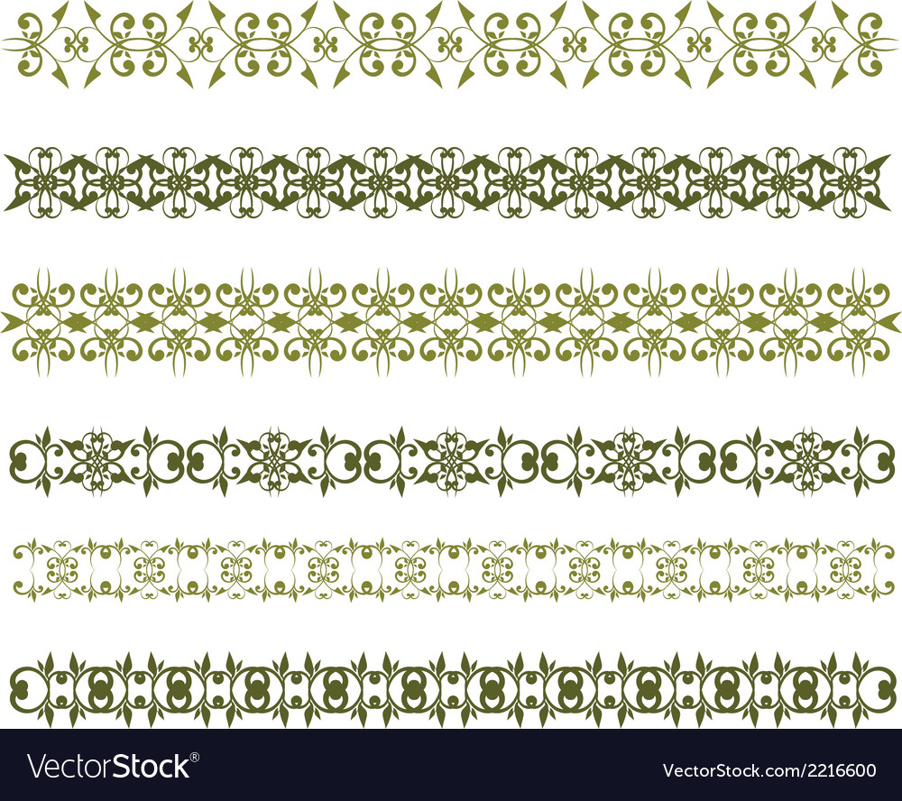Floral vintage border vector | Price: 1 Credit (USD $1)
