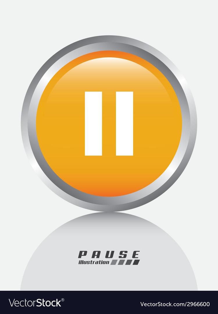 Pause design vector | Price: 1 Credit (USD $1)