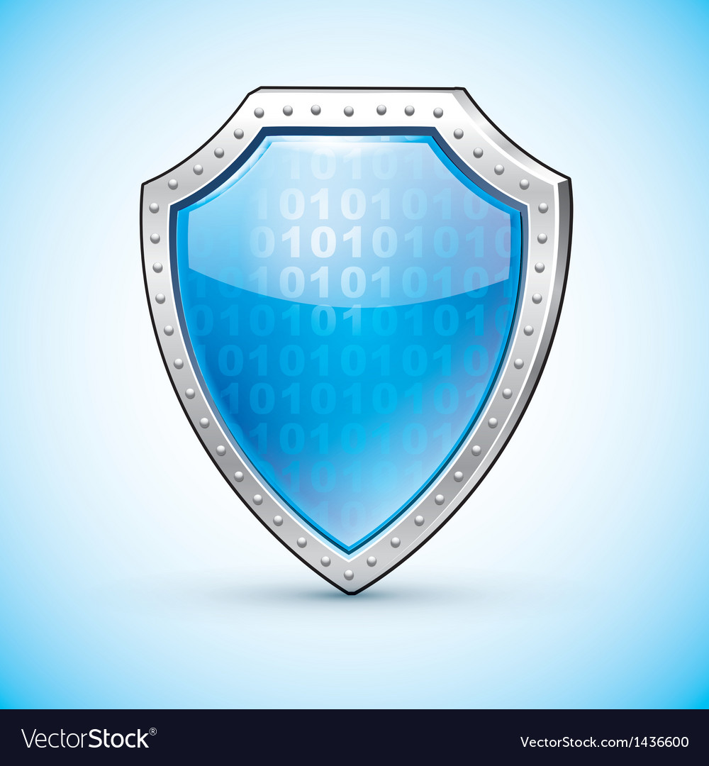 Shield protection symbol safety emblem vector   Price: 1 Credit (USD $1)