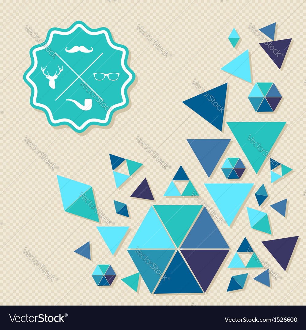 Unusual vintage hipsters label icons geometric vector | Price: 1 Credit (USD $1)