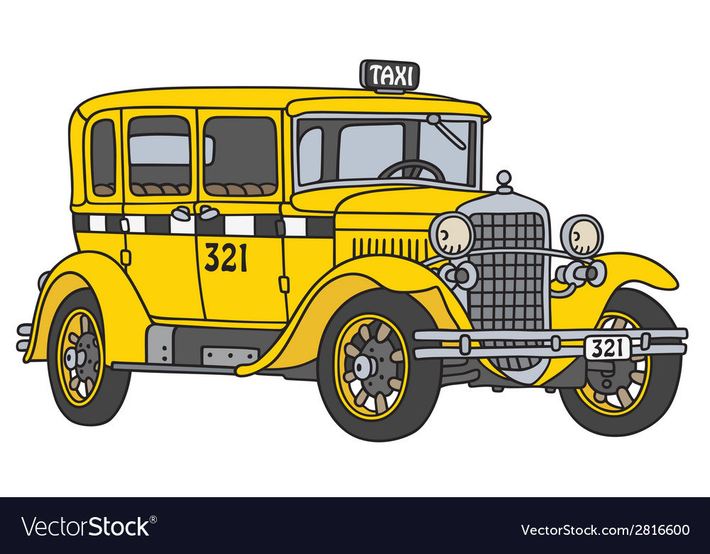 Vintage taxi vector | Price: 1 Credit (USD $1)
