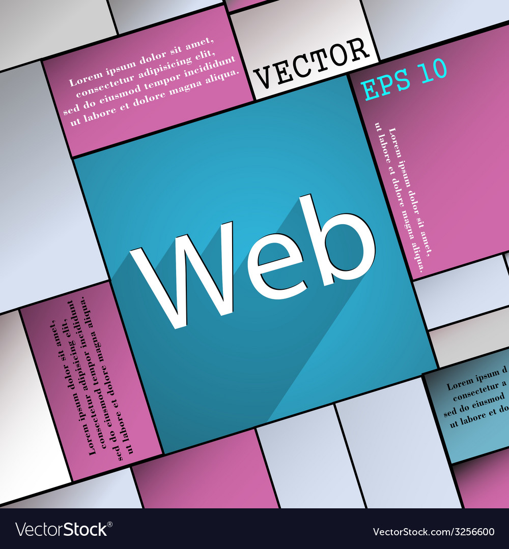 Web icon symbol flat modern web design with long vector | Price: 1 Credit (USD $1)