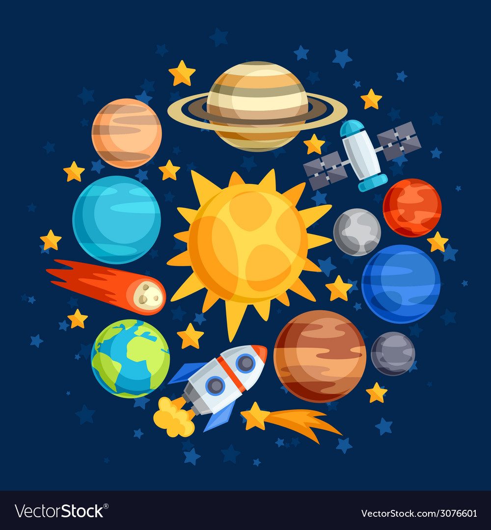 Background of solar system planets and celestial vector | Price: 1 Credit (USD $1)