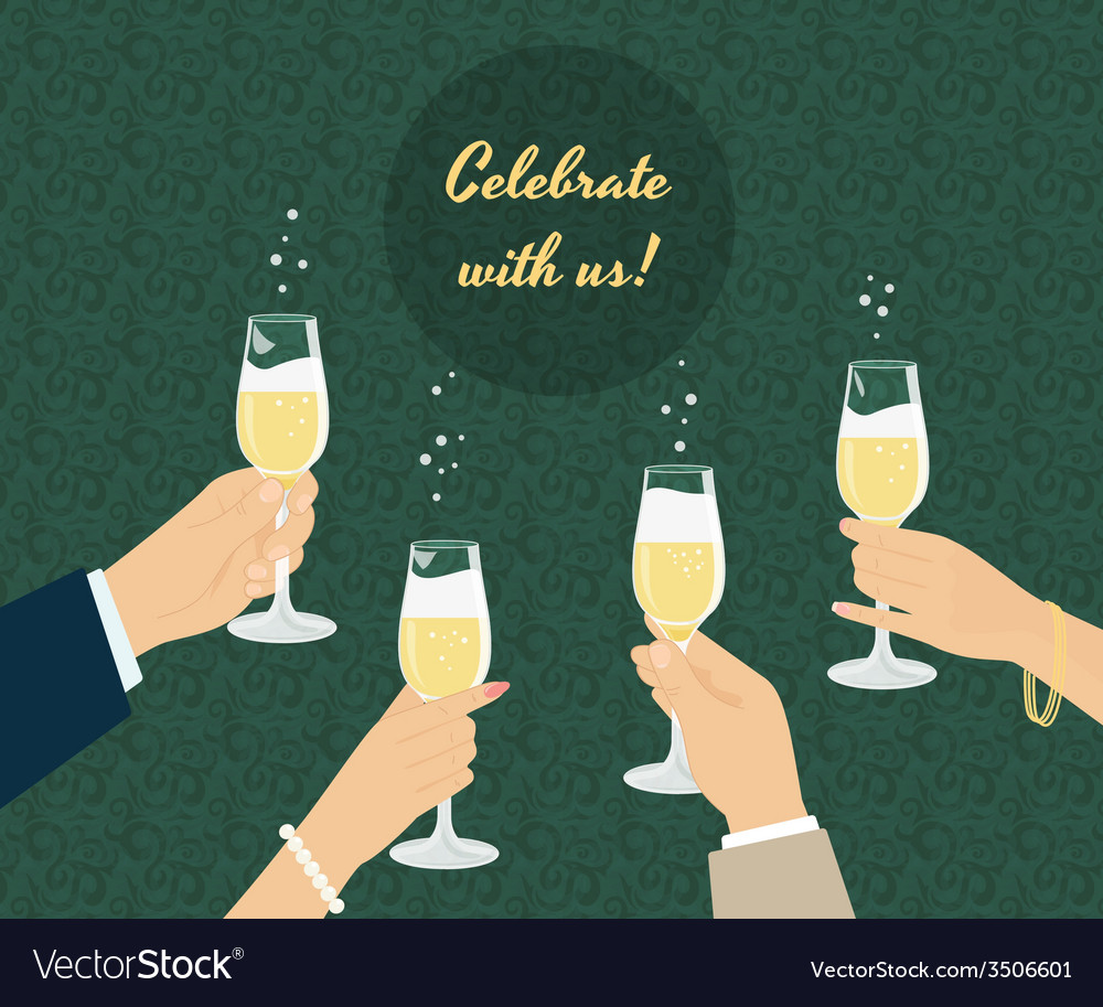 Celebrating poster vector | Price: 1 Credit (USD $1)
