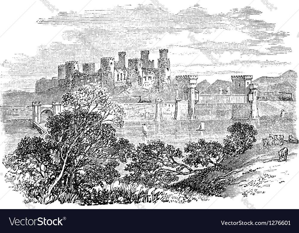 Conway castle vector | Price: 1 Credit (USD $1)