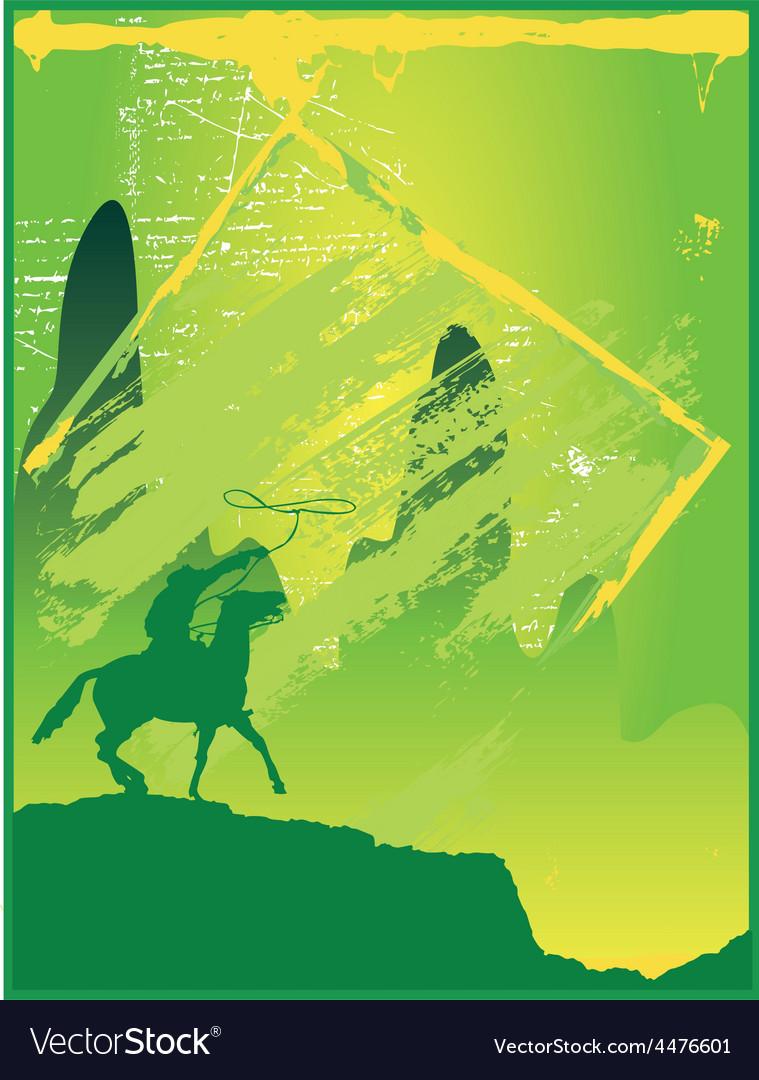 Cowboy silhouette vector | Price: 1 Credit (USD $1)