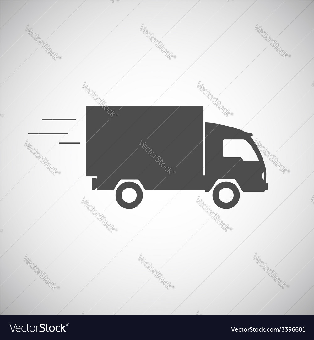 Delivery truck contour flat icon vector | Price: 1 Credit (USD $1)