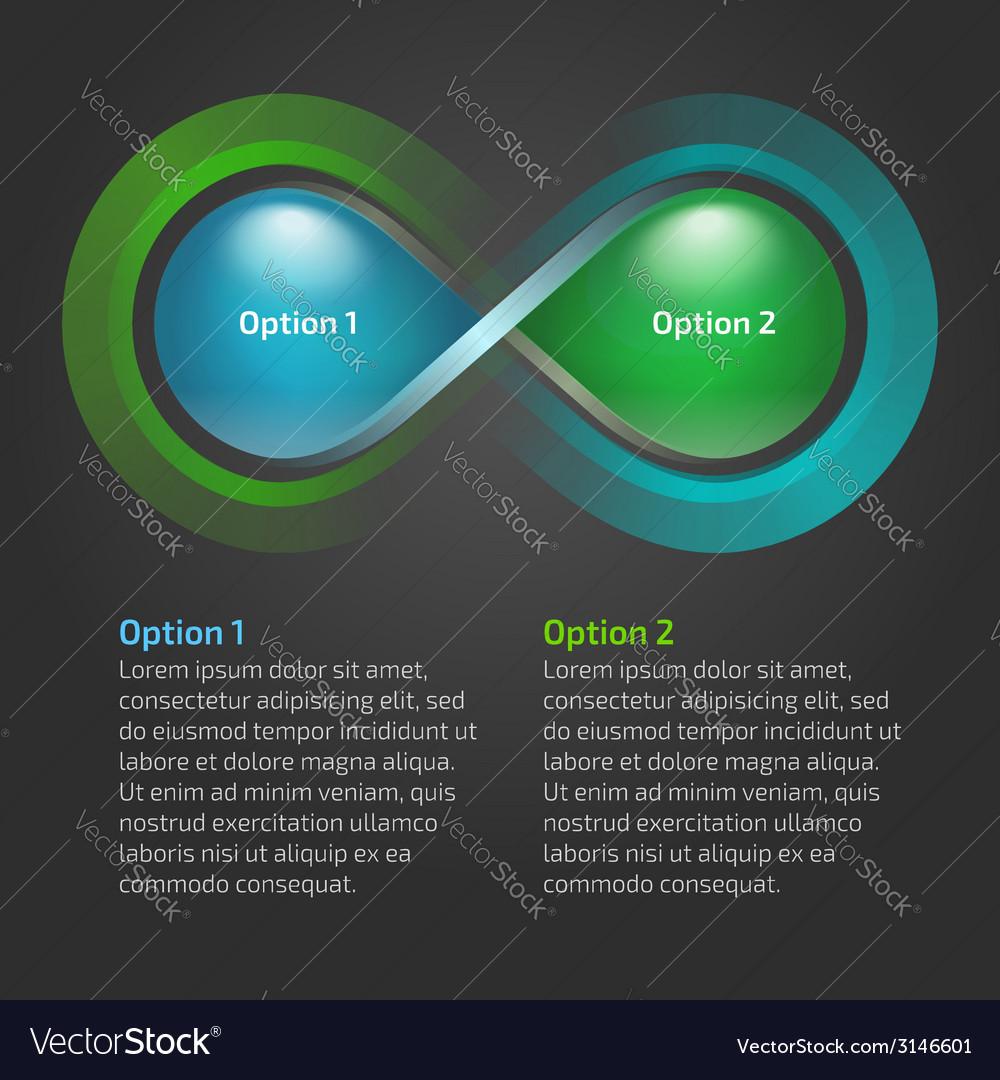 Eco water drop nature infinity loop infographic vector | Price: 1 Credit (USD $1)