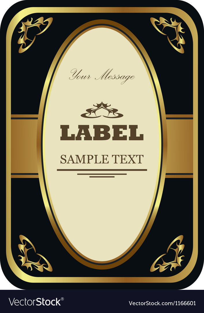 Golden label vector | Price: 1 Credit (USD $1)