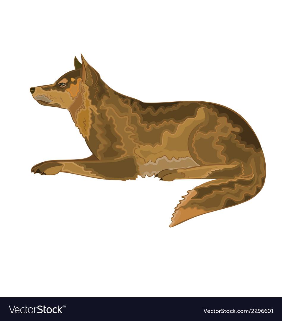 Lying-dog vector   Price: 1 Credit (USD $1)