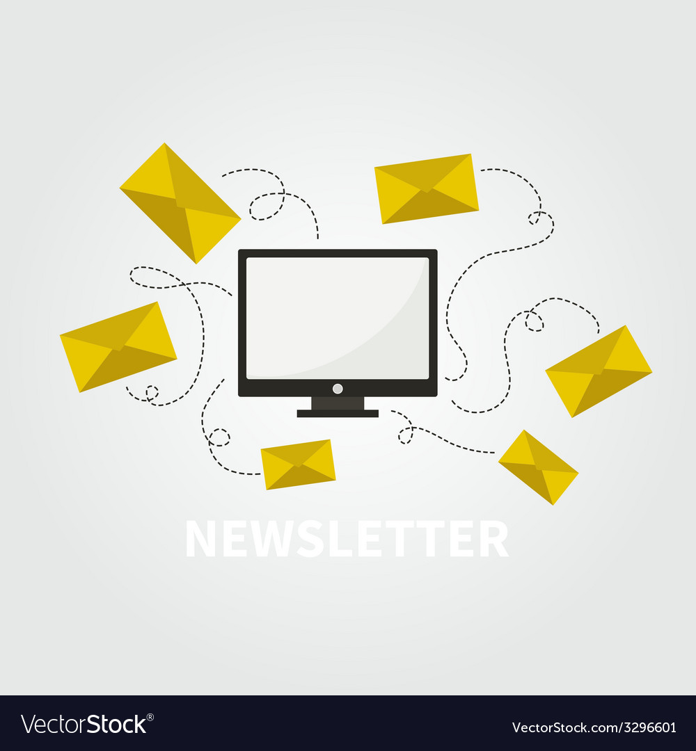 Newsletter concept vector | Price: 1 Credit (USD $1)