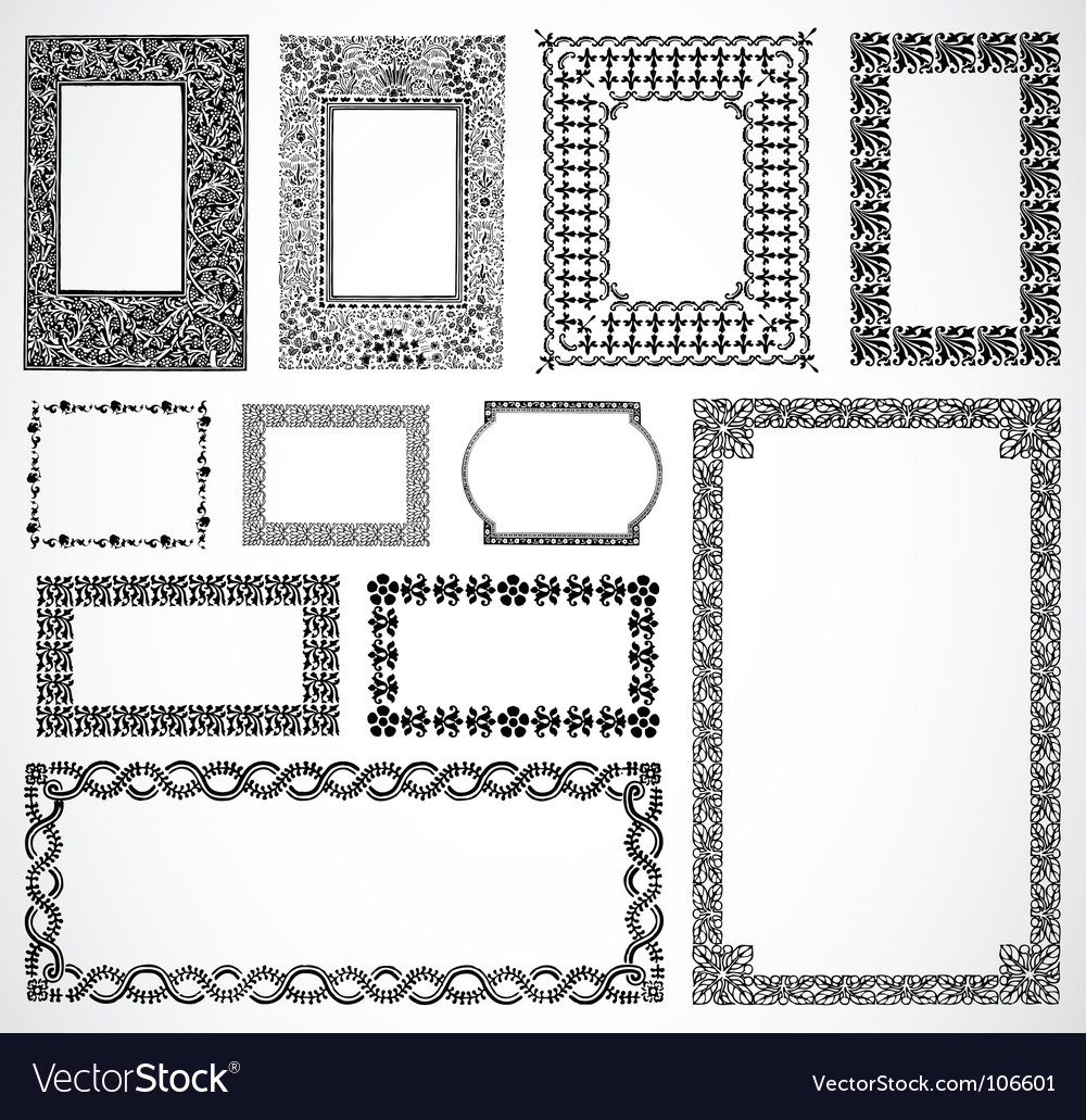 Ornate border frames vector | Price: 1 Credit (USD $1)