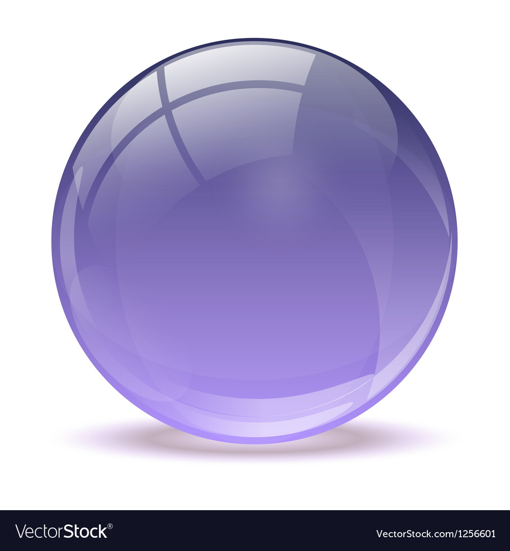 Purple abstract 3d icon ball vector | Price: 1 Credit (USD $1)