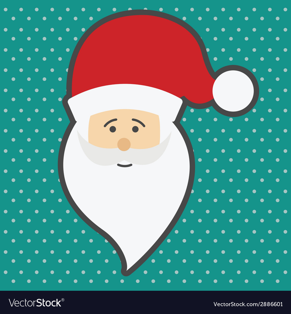 Santa claus happy new year vector | Price: 1 Credit (USD $1)