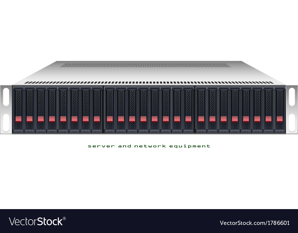 Server rackmount chassis vector | Price: 1 Credit (USD $1)