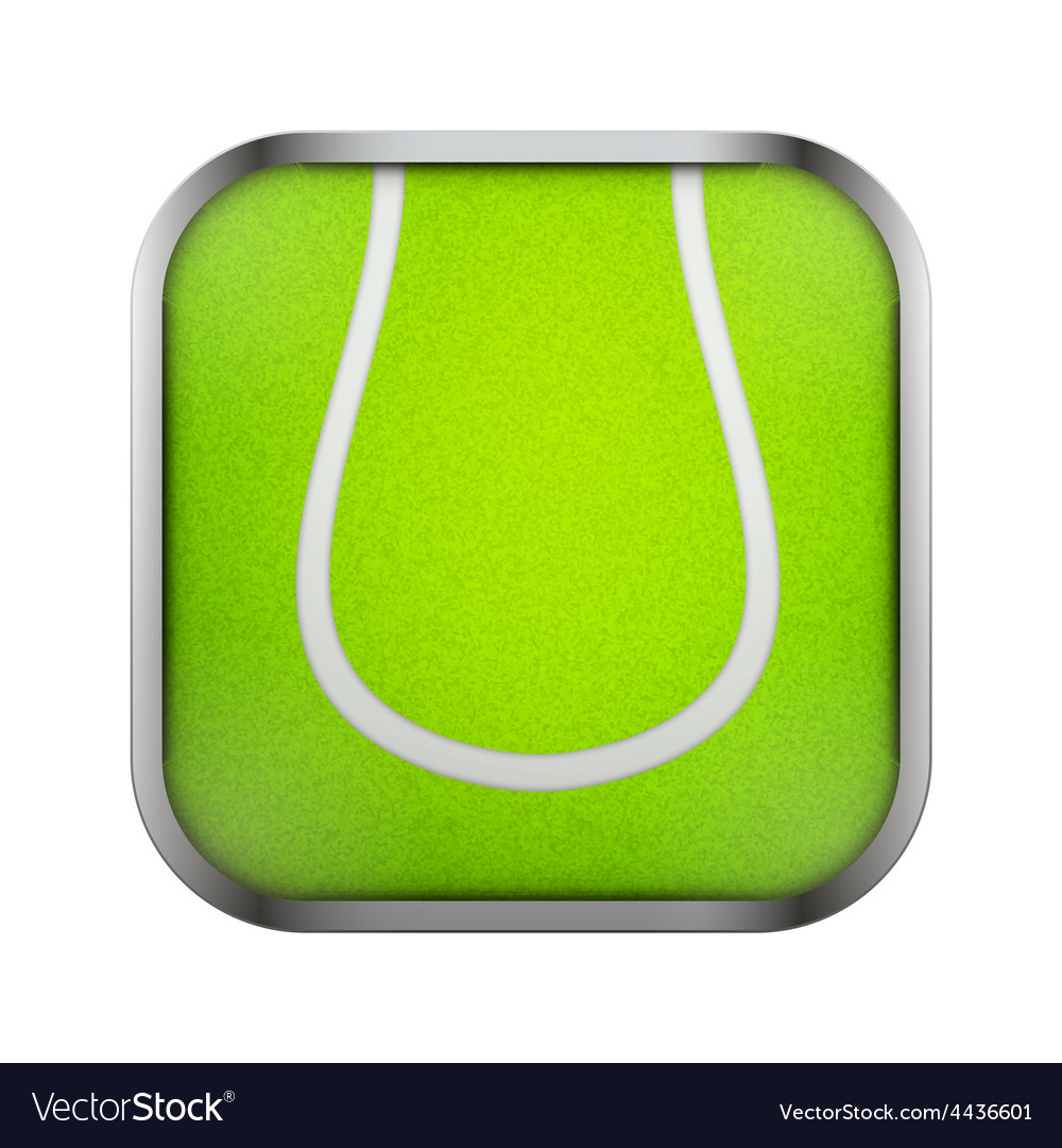 Square icon for tennis app or games vector | Price: 1 Credit (USD $1)