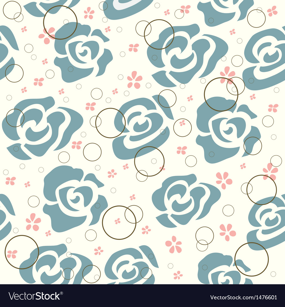 Vintage roses pattern vector | Price: 1 Credit (USD $1)