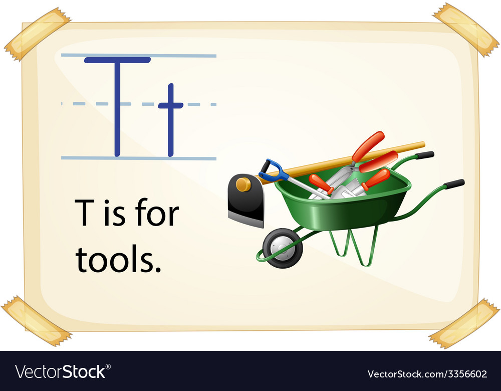 A letter t for tools vector | Price: 3 Credit (USD $3)