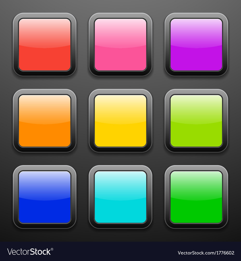 Background for the app icons - glass set vector | Price: 1 Credit (USD $1)