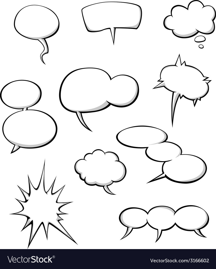 Cartoon dialog clouds vector | Price: 1 Credit (USD $1)
