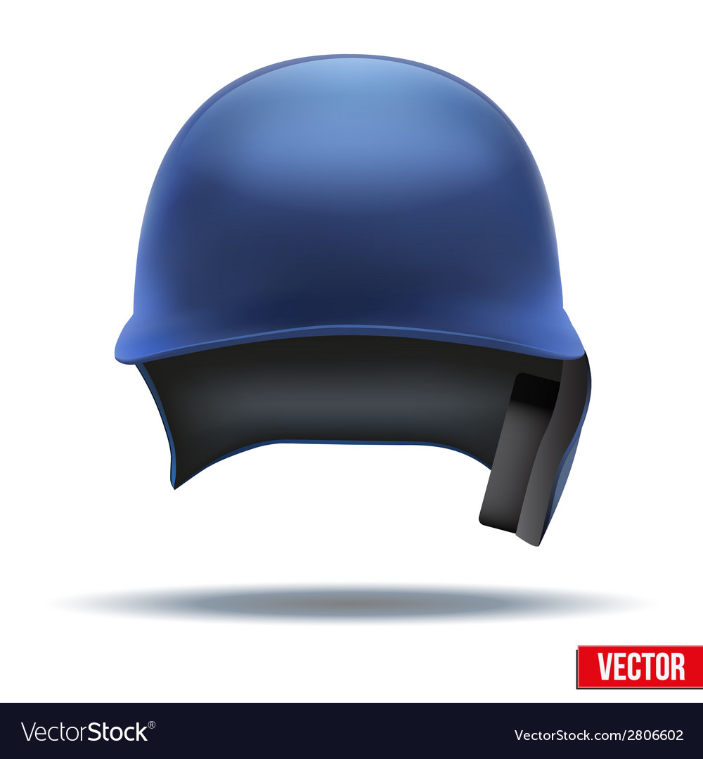 Classic blue baseball helmet front view isolated vector | Price: 1 Credit (USD $1)
