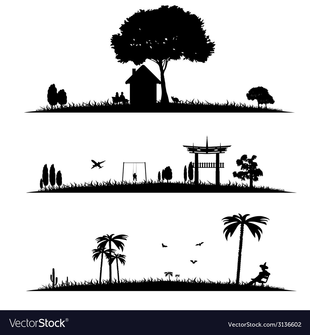 Different landscape vector | Price: 1 Credit (USD $1)