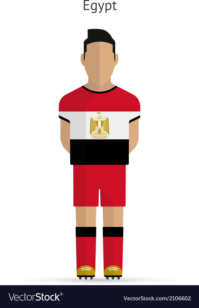 Egypt football player soccer uniform vector | Price: 1 Credit (USD $1)