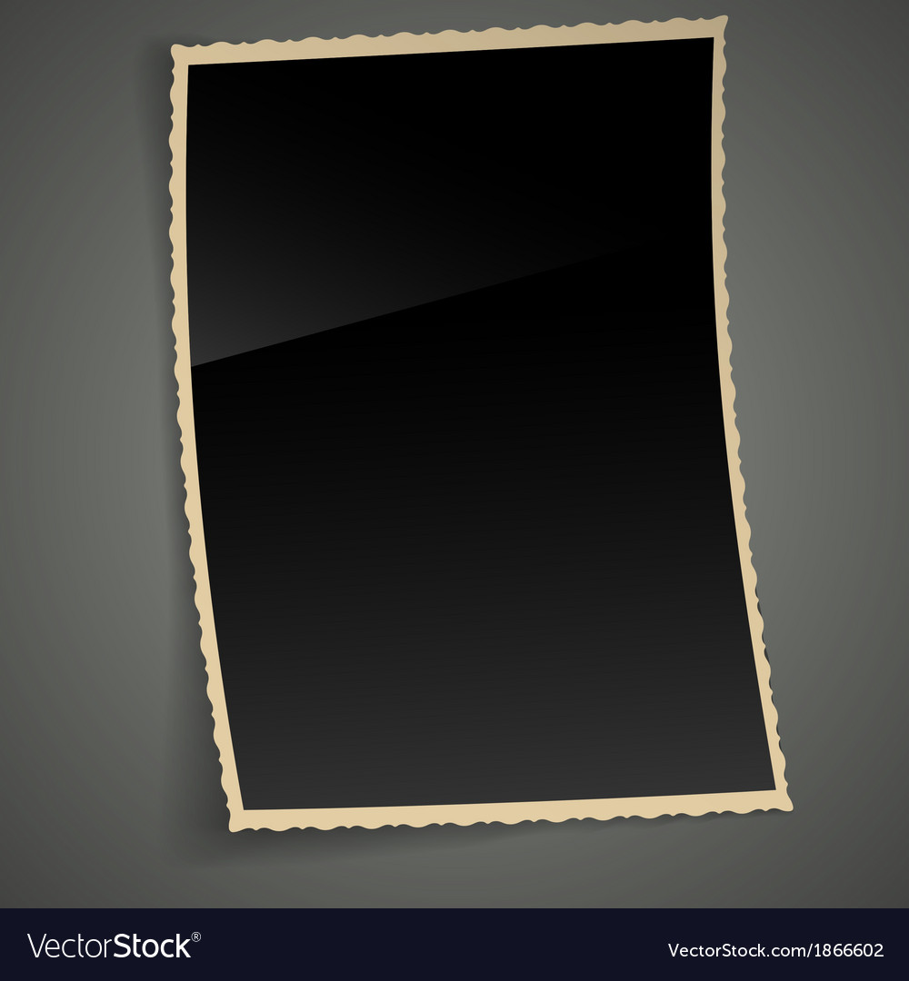 Empty vintage photo frame background vector | Price: 1 Credit (USD $1)