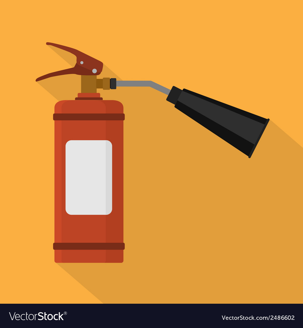 Flat fire extinguisher vector | Price: 1 Credit (USD $1)