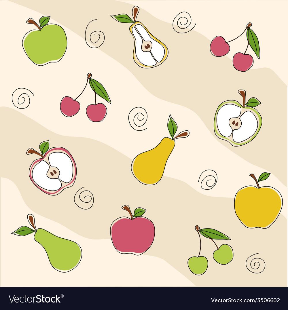 Fruit seamless texture vector | Price: 1 Credit (USD $1)