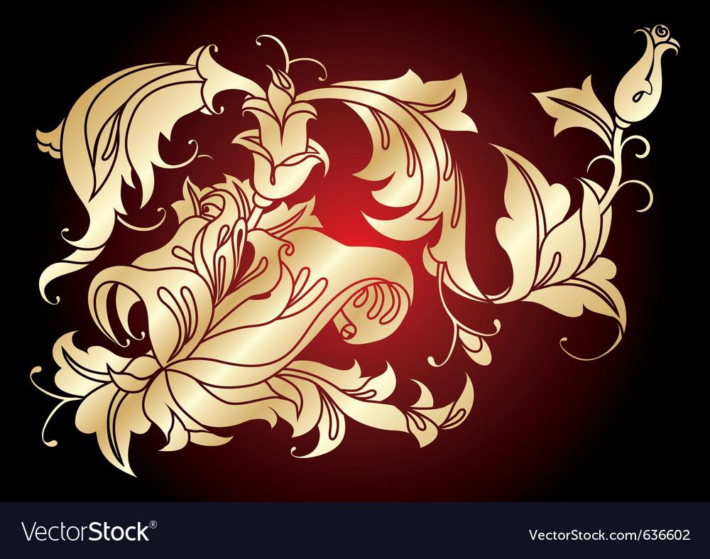 Golden card vector | Price: 1 Credit (USD $1)