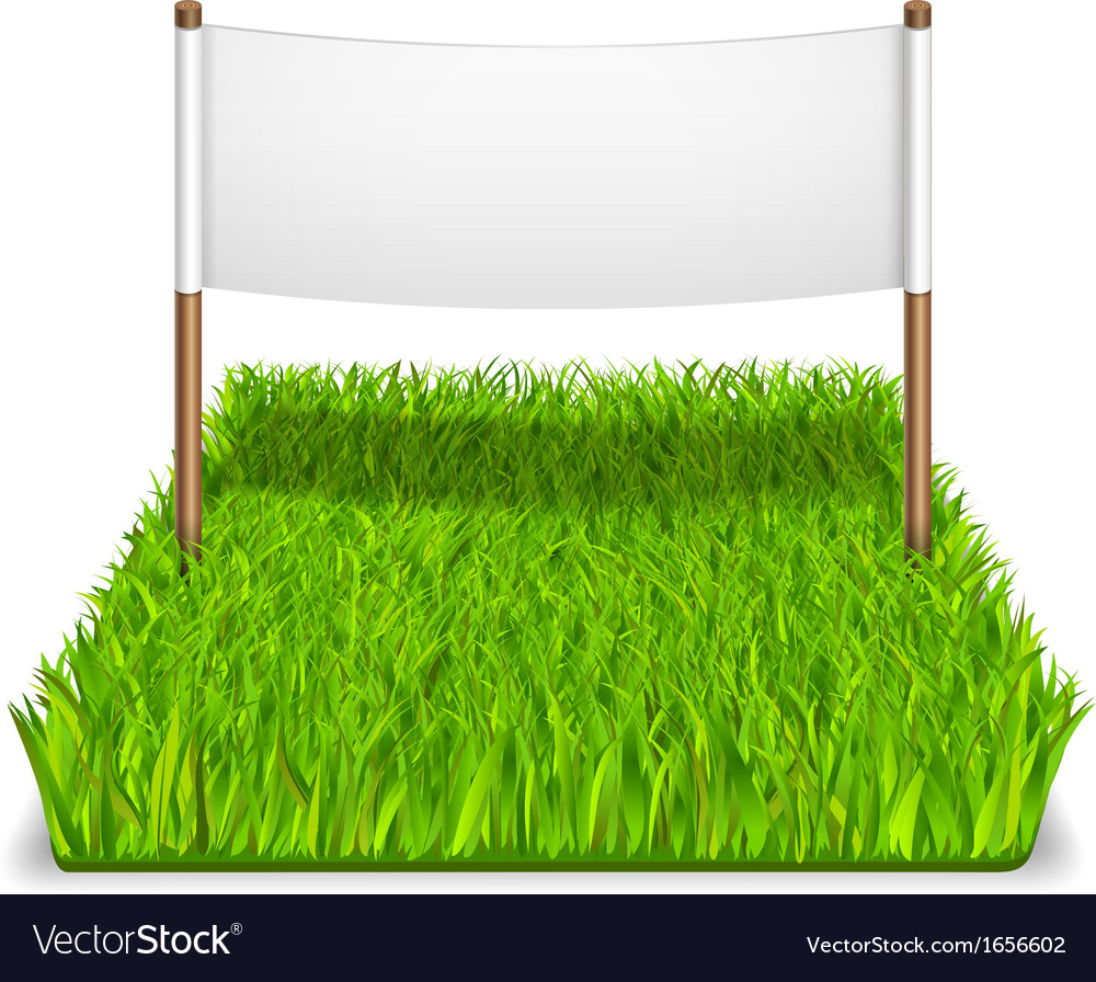 Green grass sign vector | Price: 1 Credit (USD $1)