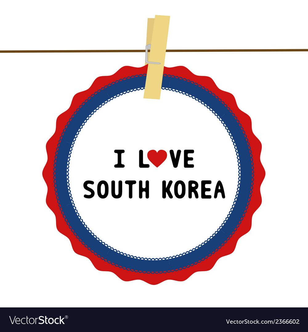 I love south korea4 vector | Price: 1 Credit (USD $1)