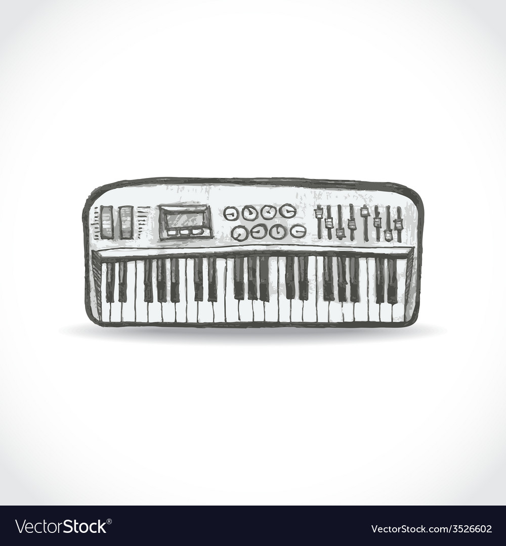 Music keyboard vector | Price: 1 Credit (USD $1)