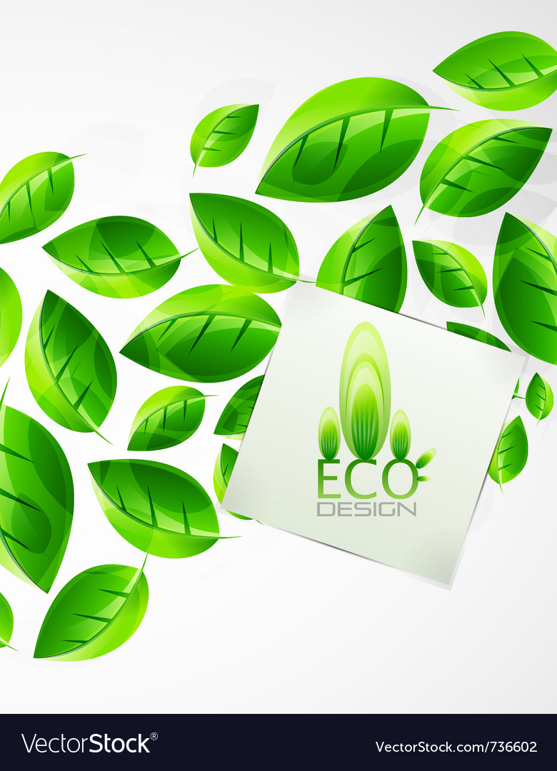 Nature green leaf background vector | Price: 1 Credit (USD $1)