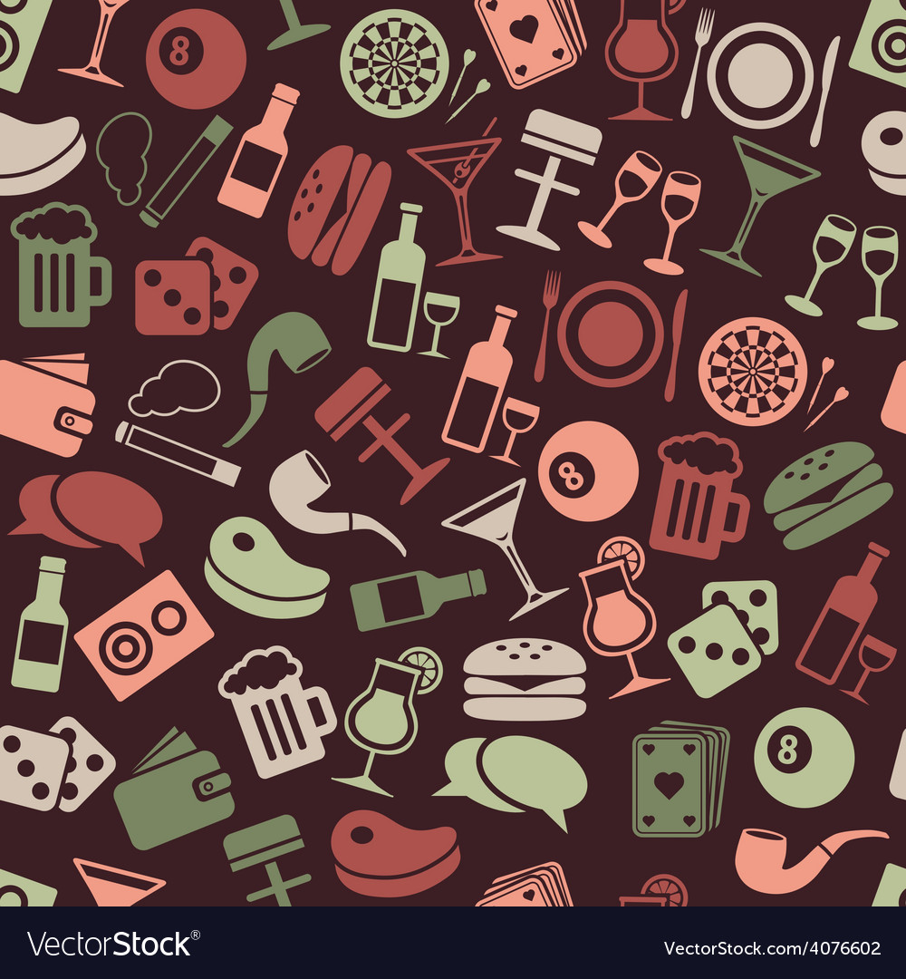 Pub seamless pattern vector | Price: 1 Credit (USD $1)
