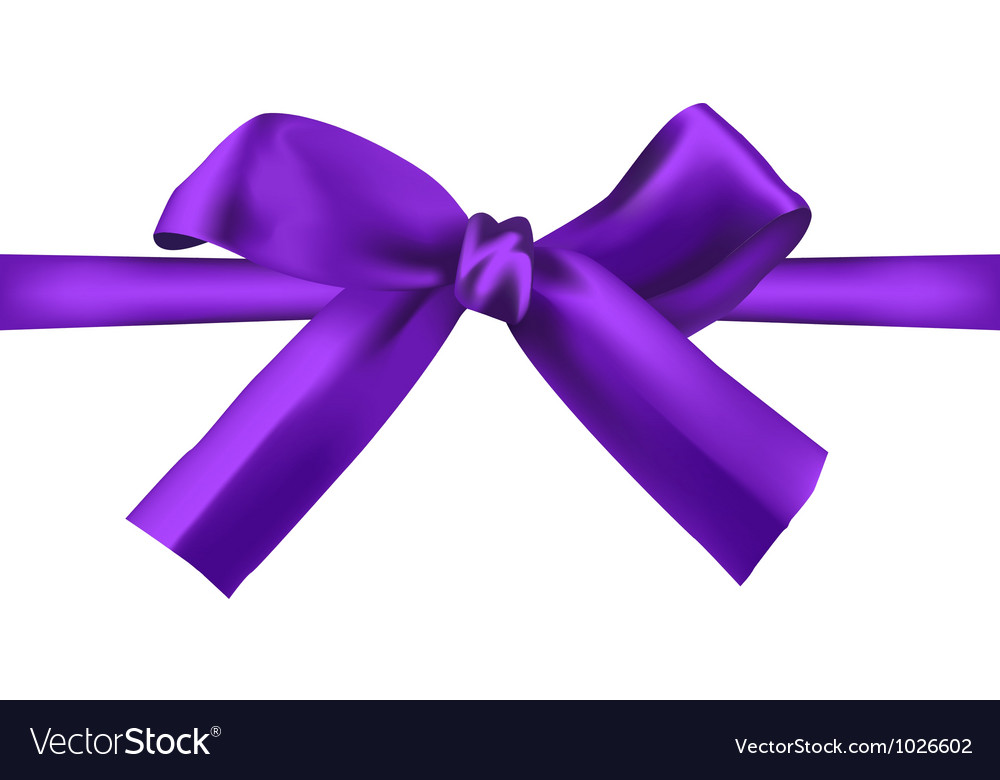 Realistic purple bow vector | Price: 1 Credit (USD $1)