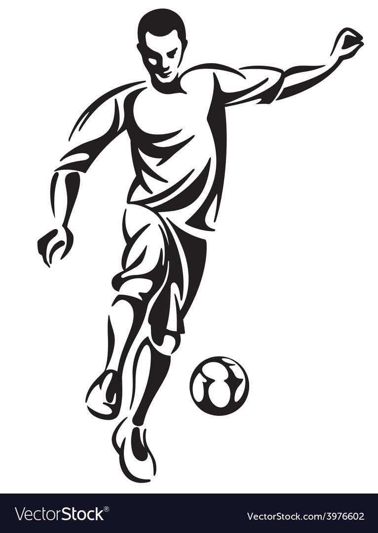 Soccer football player vector